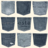 Denim & Co farkku tapetti Jeans Pocket