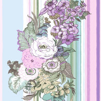 Pretty Nostalgic tapetti Vintage Flower purppura