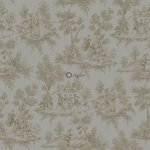 Bloomingdale tapetti toile de jouy taupe-pronssi