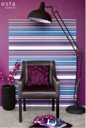 Stripes XL purppura tapetti